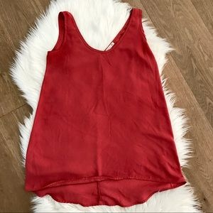Soprano simple sleeveless blouse size small